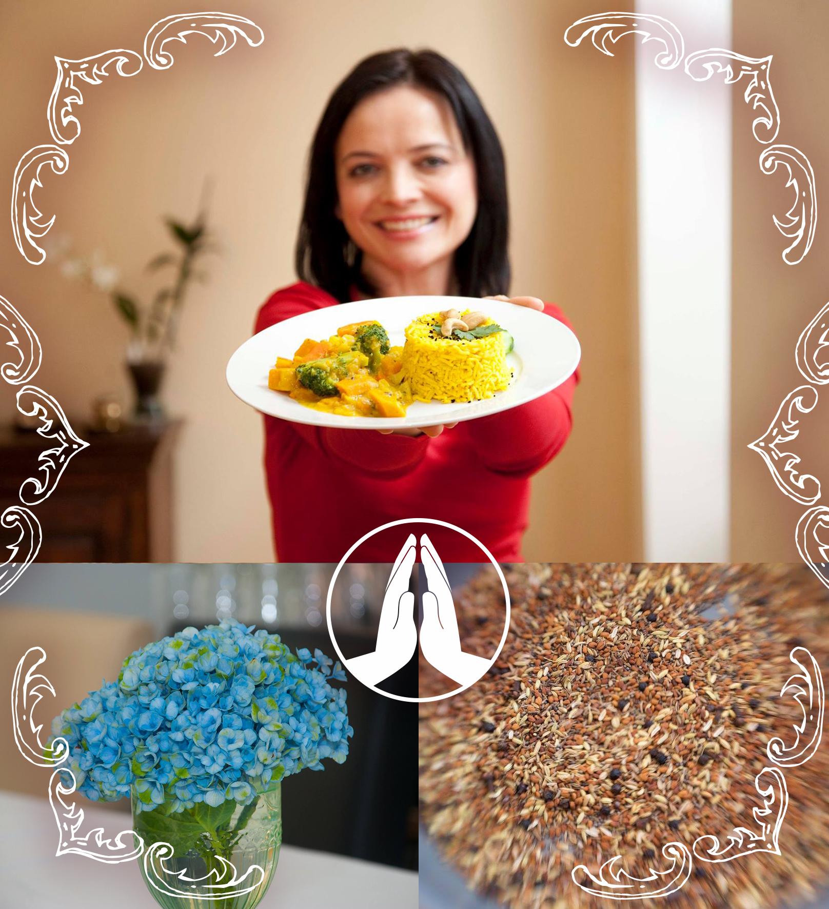 Ayurveda Kochkurse mit Sandra Hartmann sind ein Event besonderer Art: authentische Ayurveda Küche von der Pike auf (bio & rein vegetarisch); kompetente Lehrerin & Chefköchin (27 Jahre Erfahrung), angenehme Atmosphäre des Koch-Ateliers, verständlicher Unterricht mit Struktur und Luxus der kleinen Gruppe.